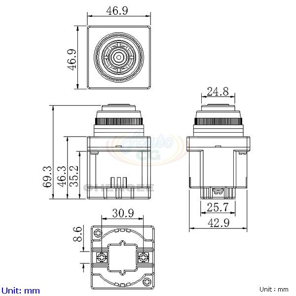 30mm flush mounting buzzer