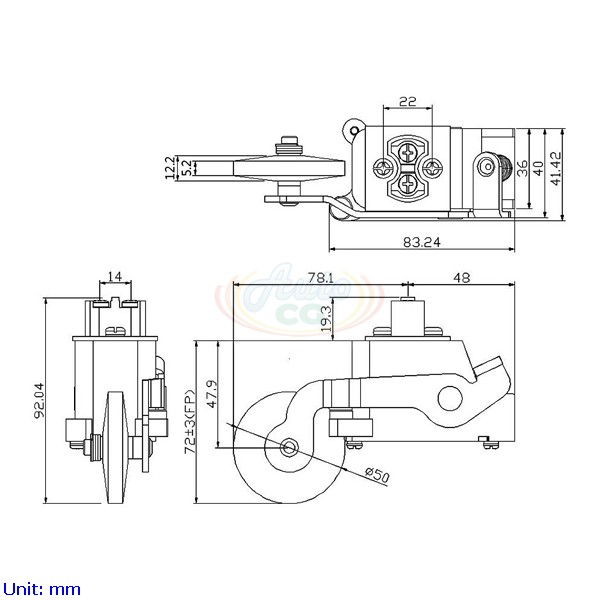 limit switches for elevator  small roller